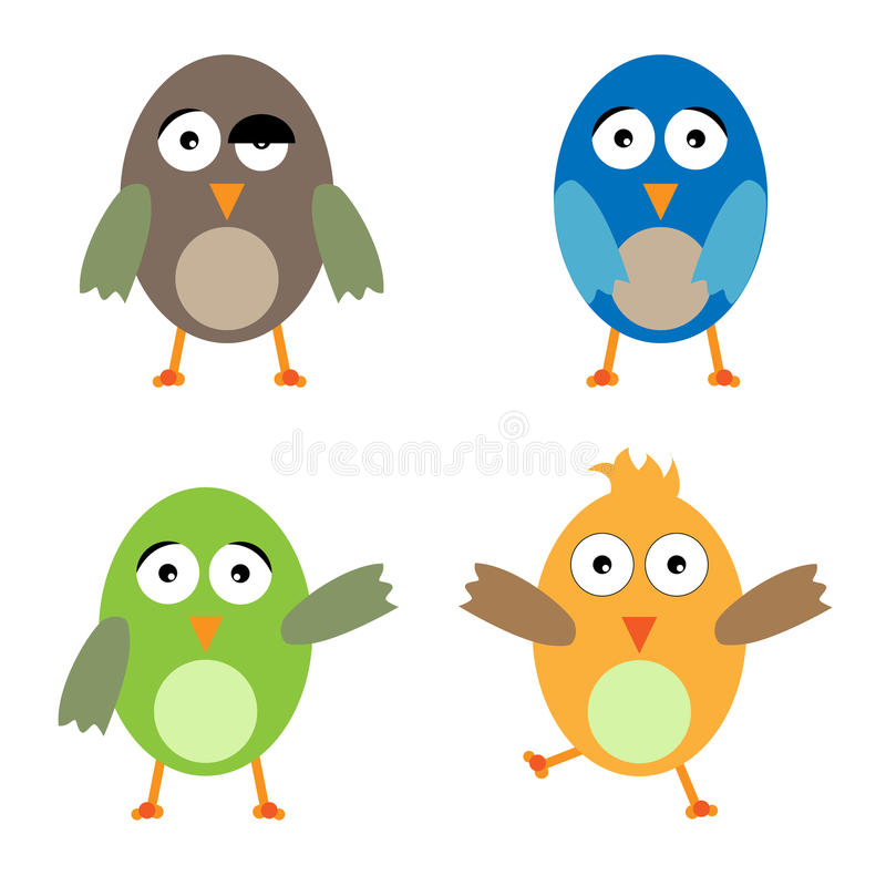Uccelli divertenti illustrazione di stock