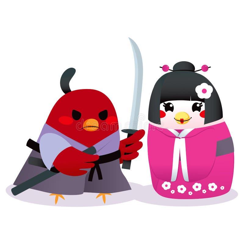 Uccelli giapponesi tradizionali illustrazione vettoriale for Disegni tradizionali giapponesi
