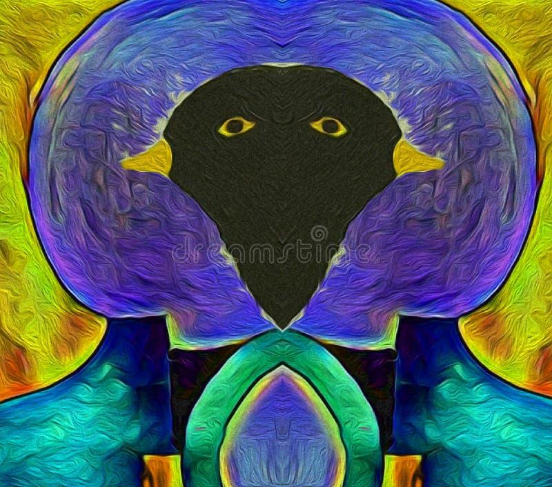 Uccelli i colori dei merli illustrazione vettoriale