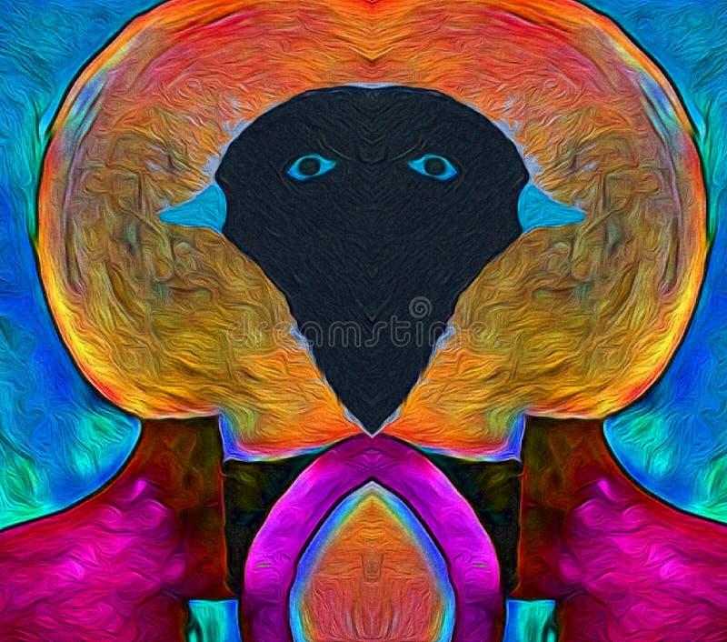 Uccelli i colori dei merli illustrazione di stock
