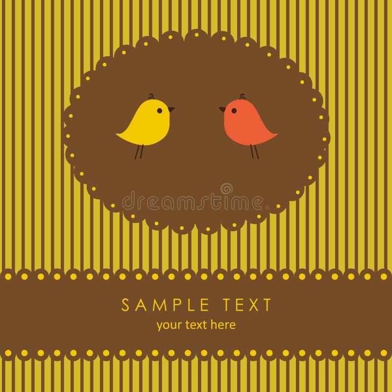 Uccelli nell'amore. Cartolina d'auguri di vettore illustrazione vettoriale