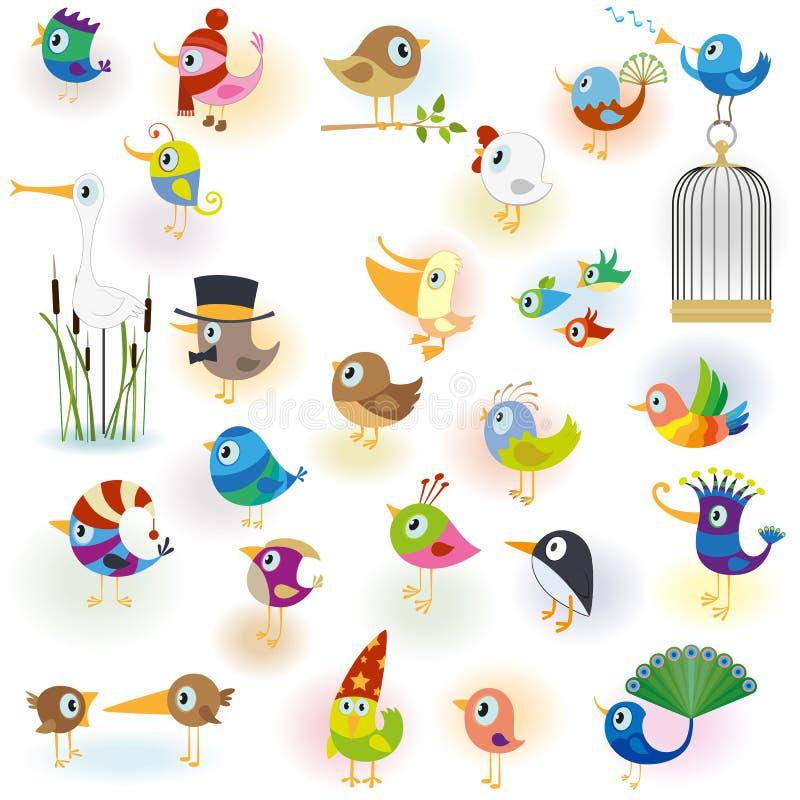 Uccelli set14 illustrazione di stock