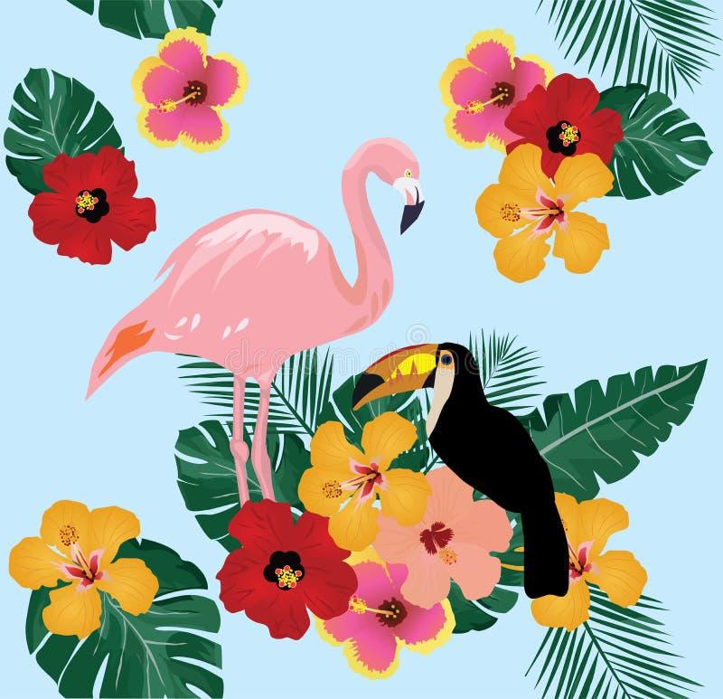Uccelli tropicali di vettore royalty illustrazione gratis