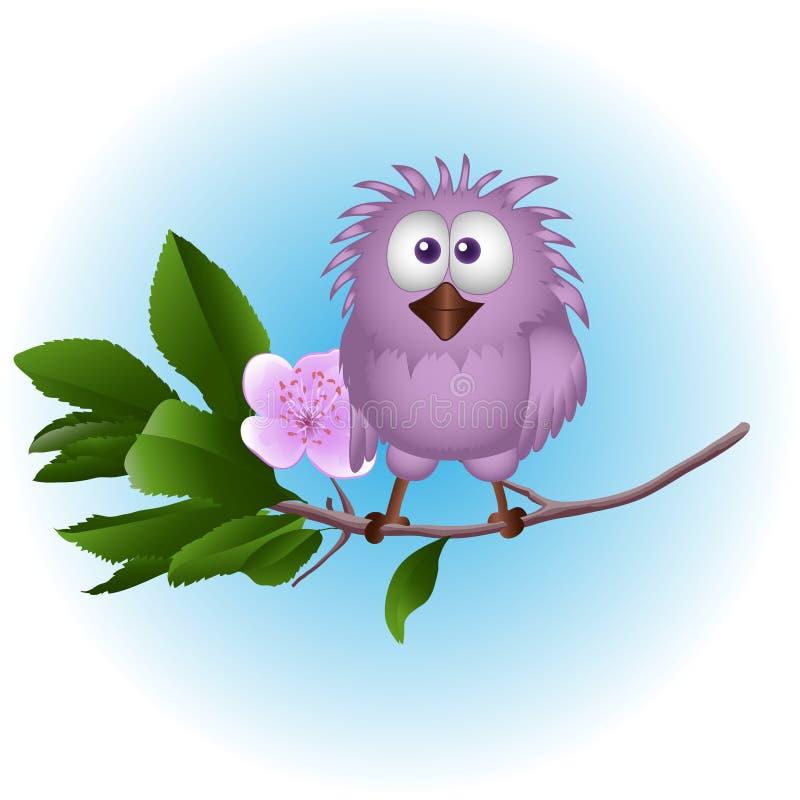Uccellino su un albero royalty illustrazione gratis