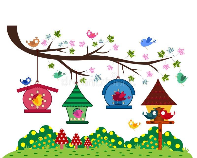 Uccello al parco illustrazione di stock