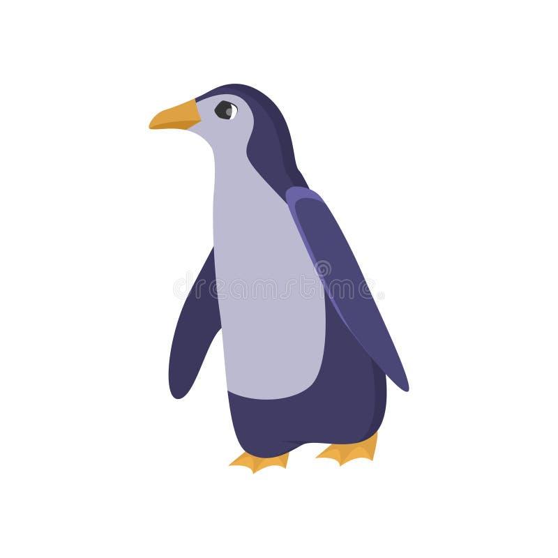 Uccello antartico del pinguino isolato su fondo bianco royalty illustrazione gratis