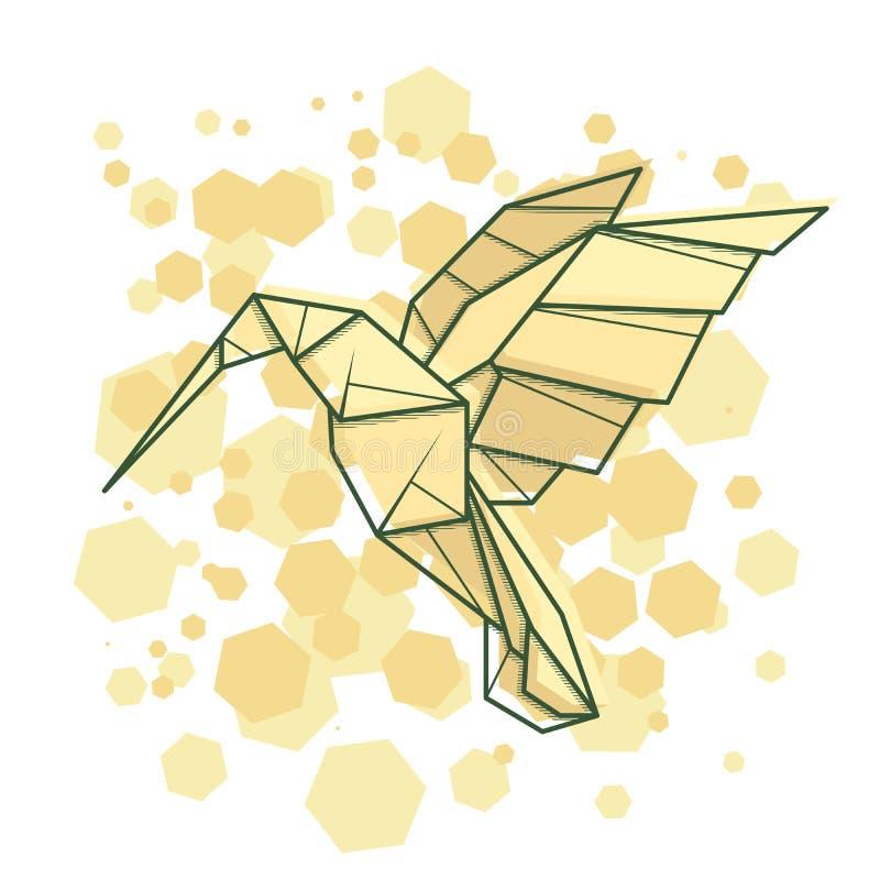 Uccello astratto di ronzio dell'illustrazione di vettore royalty illustrazione gratis