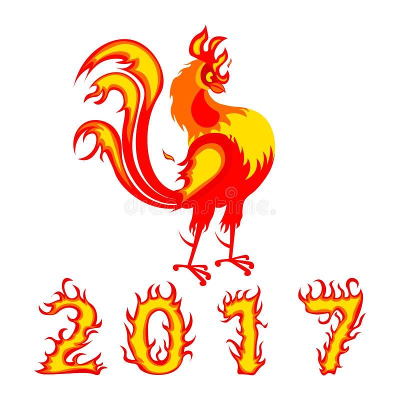 Uccello cinese 2017 del gallo di simbolo fotografia stock