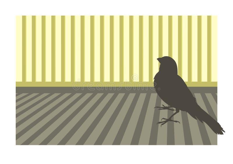 Uccello color giallo canarino 1 illustrazione vettoriale