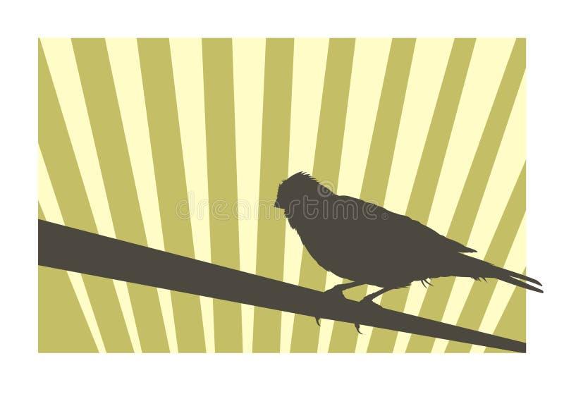 Uccello color giallo canarino 2 illustrazione vettoriale