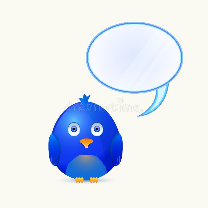 Uccello con la casella di chiacchierata della bolla illustrazione di stock