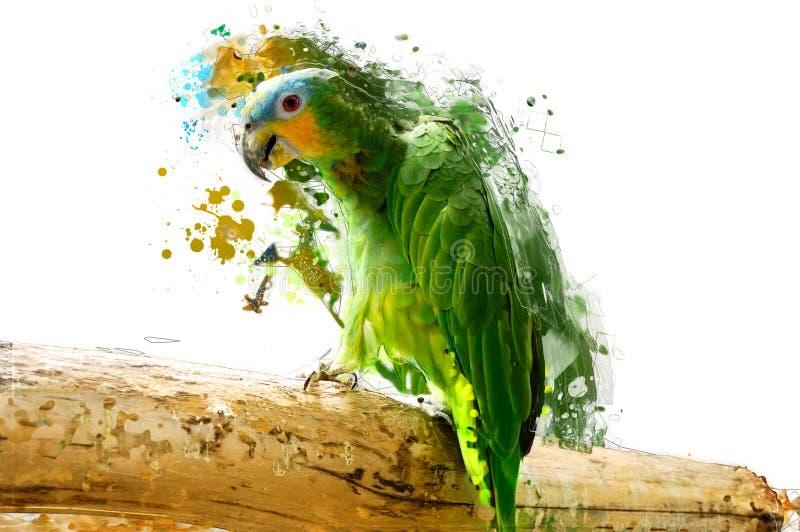 Uccello, concetto animale astratto illustrazione di stock