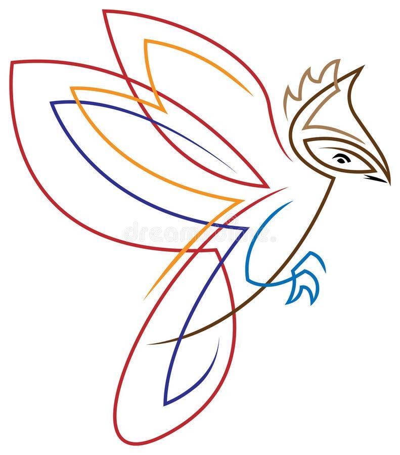 Uccello decorativo illustrazione vettoriale