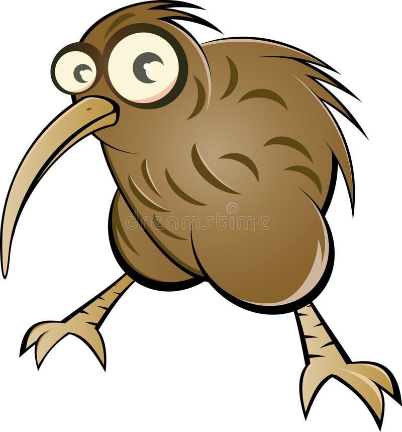 Uccello del kiwi del fumetto illustrazione di stock