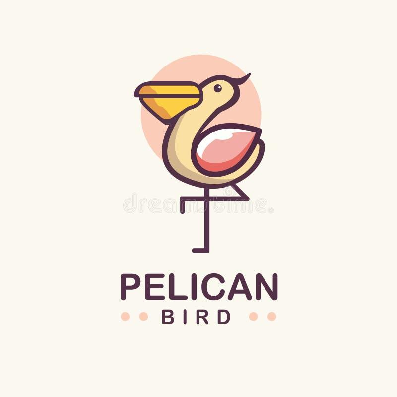 Uccello del pellicano royalty illustrazione gratis