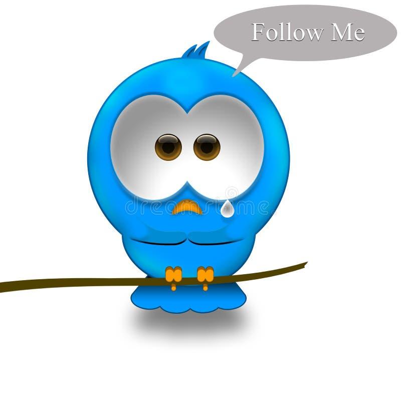 Uccello del Twitter illustrazione di stock