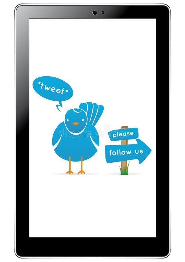 Uccello del Twitter in ridurre in pani illustrazione vettoriale