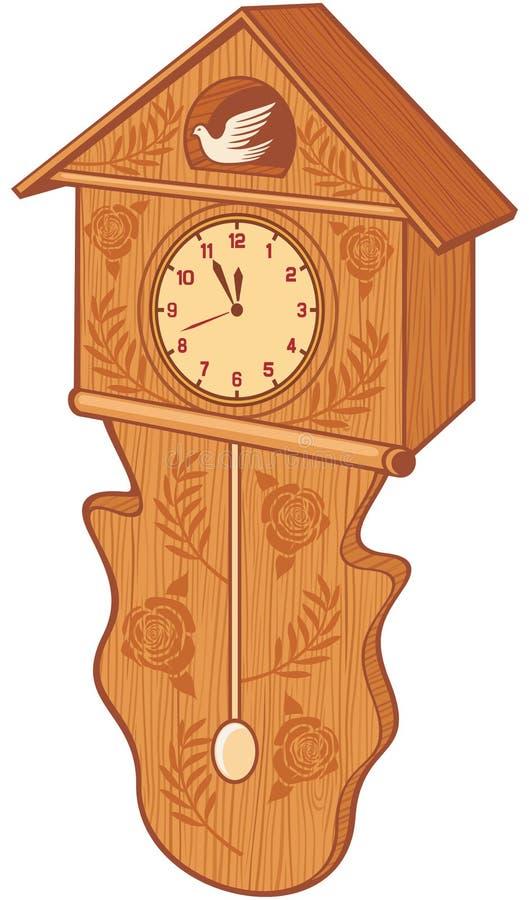 Uccello dell'orologio royalty illustrazione gratis