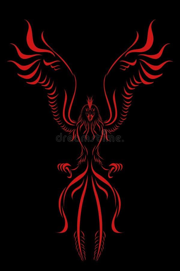 Uccello della fiamma di Phoenix illustrazione di stock