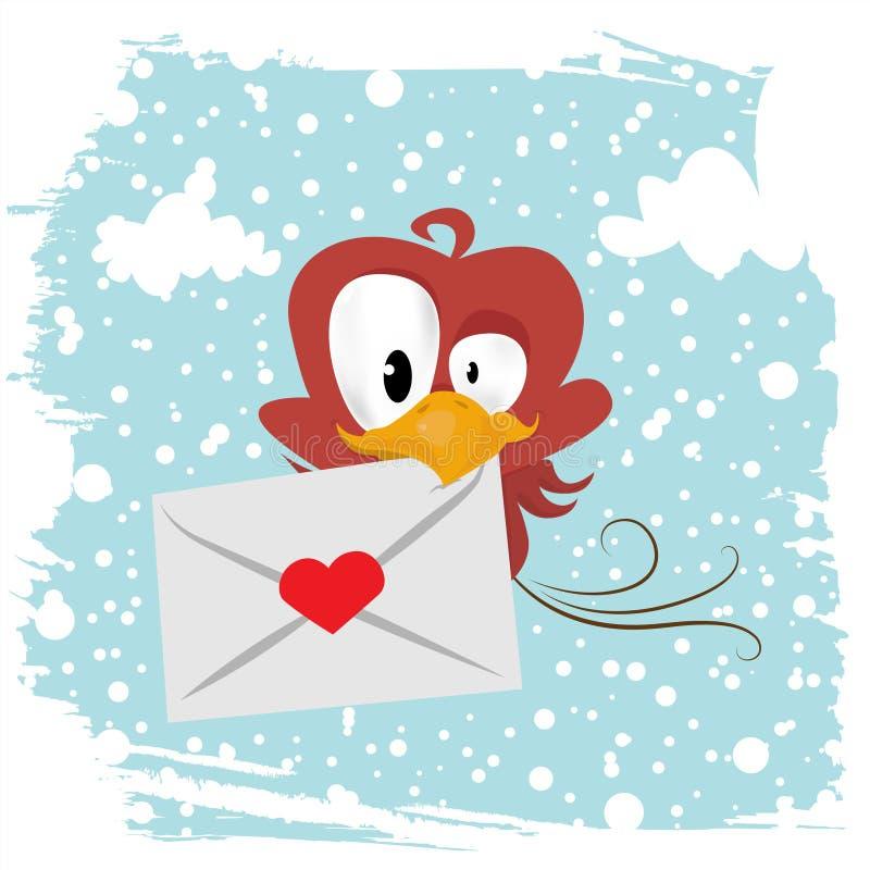 Uccello di amore (versione di inverno) royalty illustrazione gratis