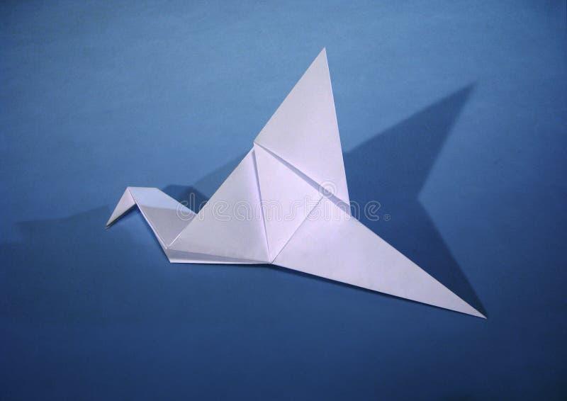 Uccello di carta fotografia stock