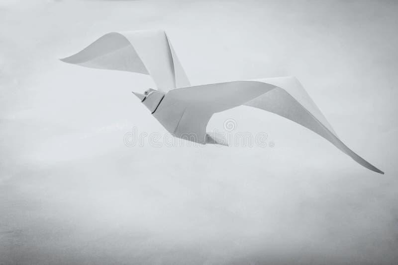 Uccello di carta del gabbiano di origami fotografie stock libere da diritti