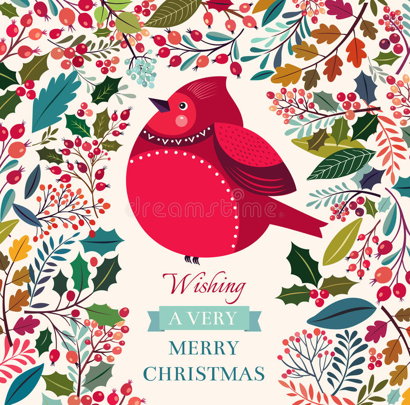 Uccello di Natale illustrazione vettoriale