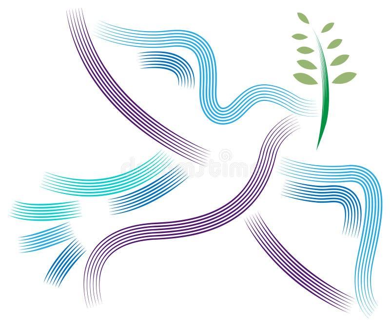 Uccello di pace illustrazione di stock