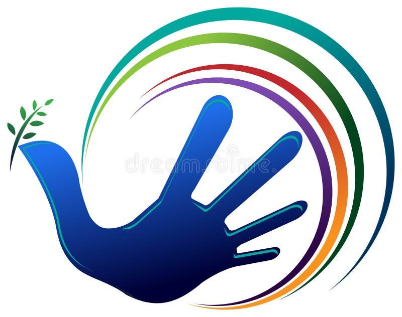 Uccello di pace della mano illustrazione vettoriale