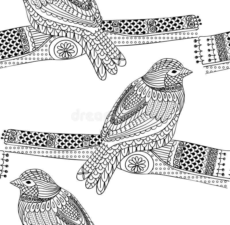Uccello disegnato a mano illustrazione vettoriale