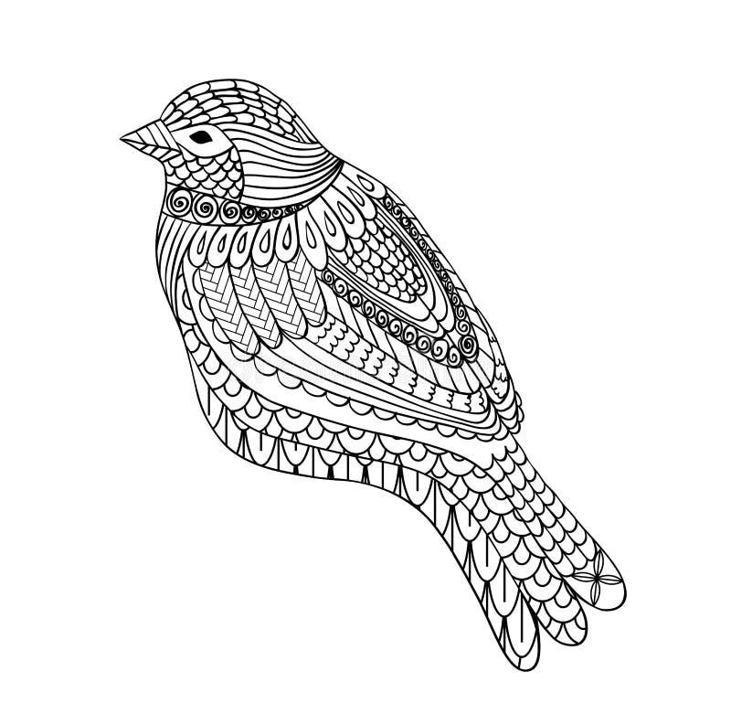 Uccello disegnato a mano royalty illustrazione gratis