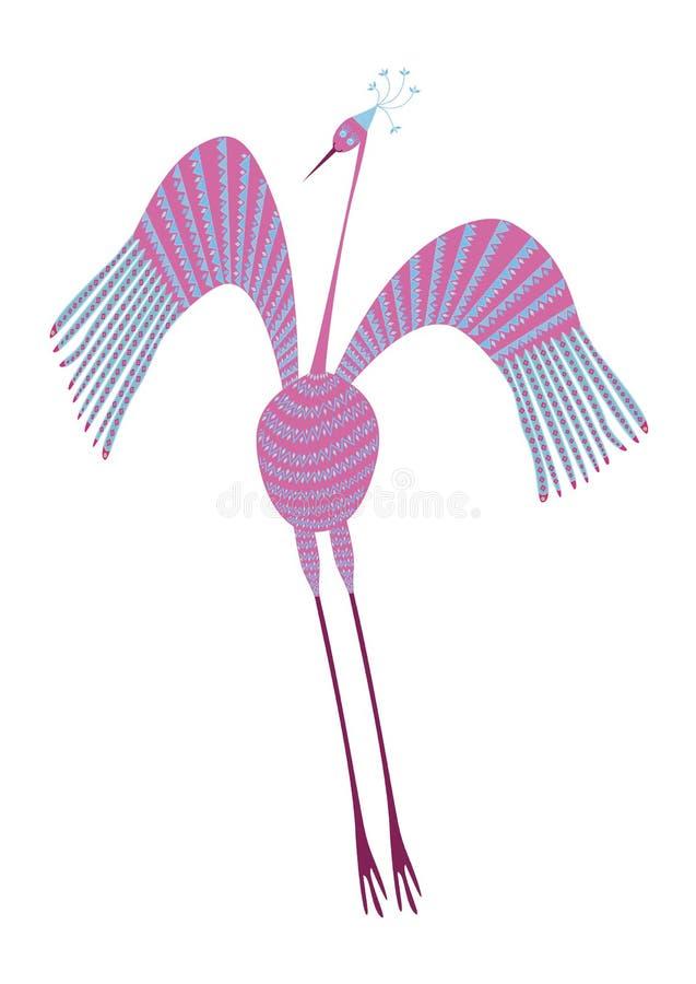 Uccello divertente illustrazione vettoriale