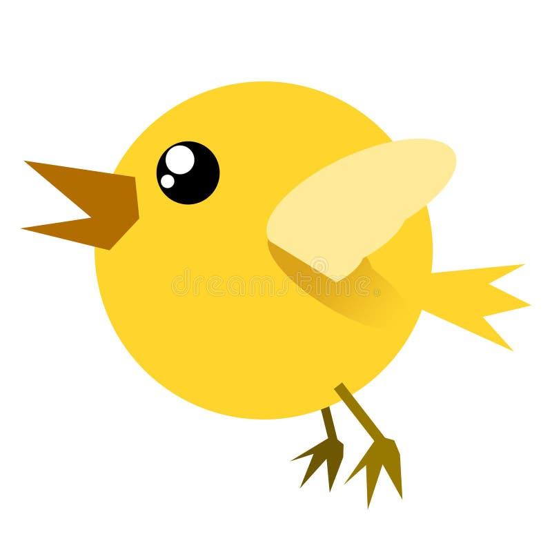 Uccello divertente illustrazione di stock