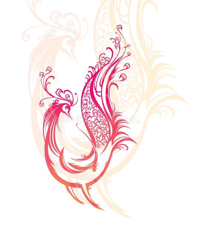 Uccello fantastico. illustrazione di stock
