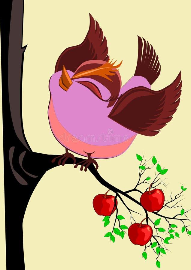 Uccello grazioso royalty illustrazione gratis