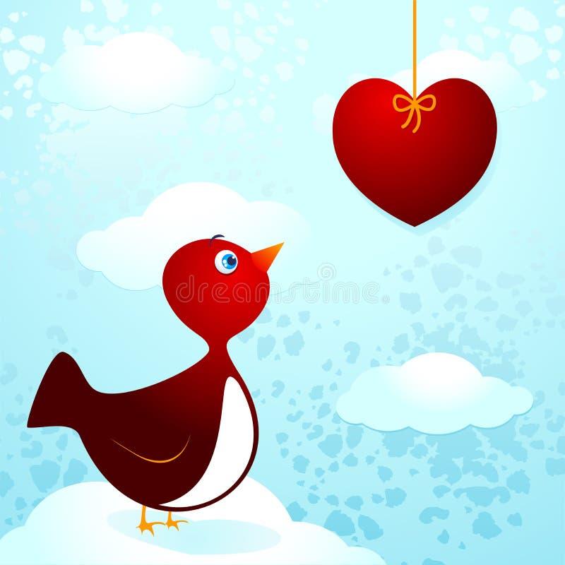 Uccello nell'amore royalty illustrazione gratis
