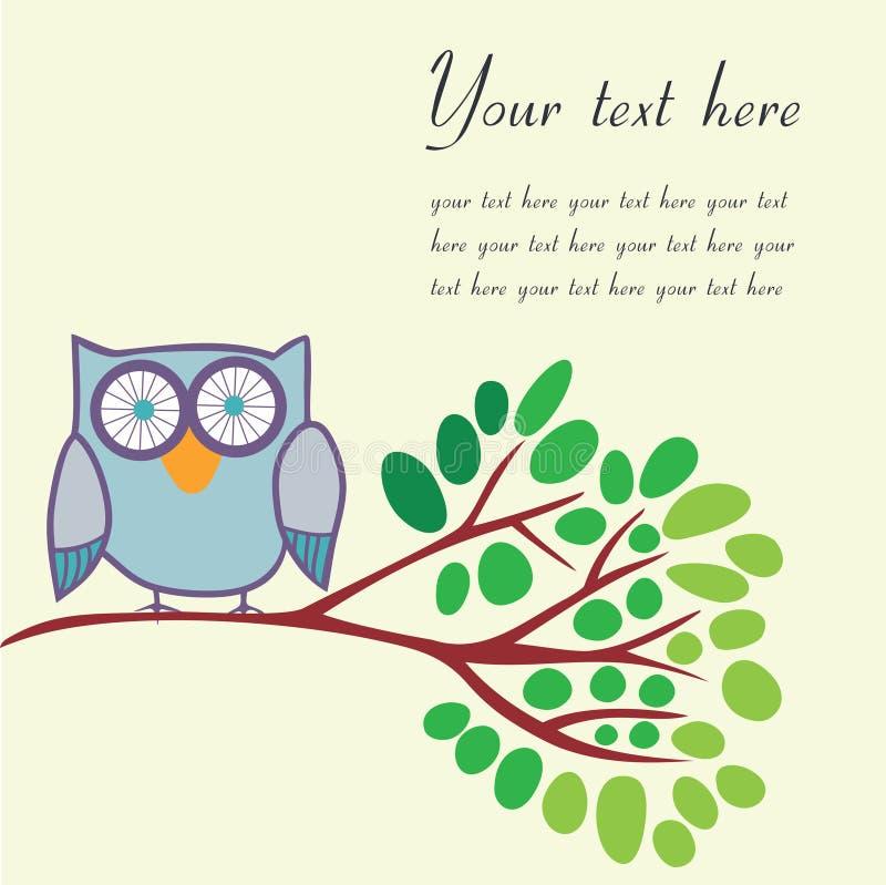 Uccello su un ramo con il posto per il vostro testo Illustrazione di vettore illustrazione vettoriale