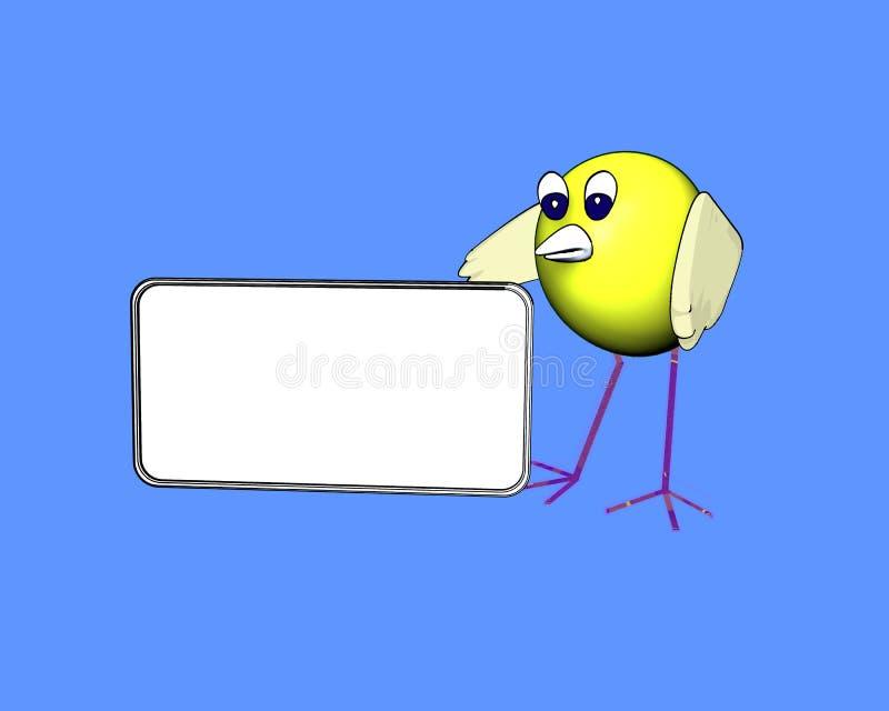 Download Uccello Sveglio Con Una Zolla In Bianco Illustrazione di Stock - Illustrazione di blank, pets: 7306667