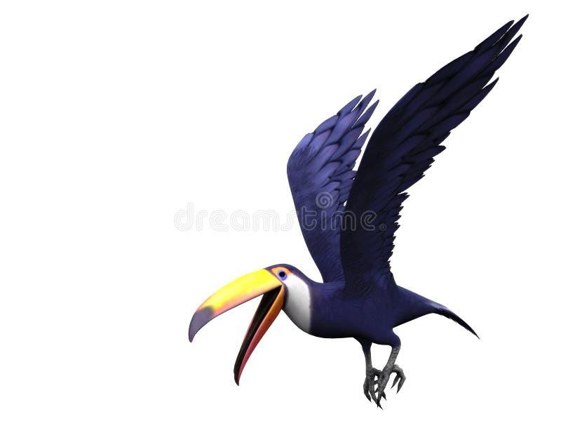 Uccello toucan volante illustrazione di stock