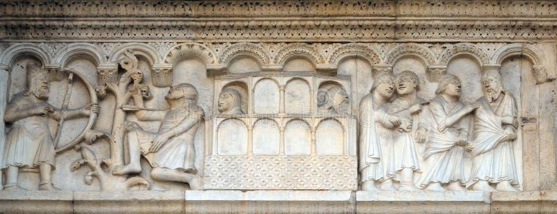 Uccisione di Caino e dell'arca di Noè immagine stock