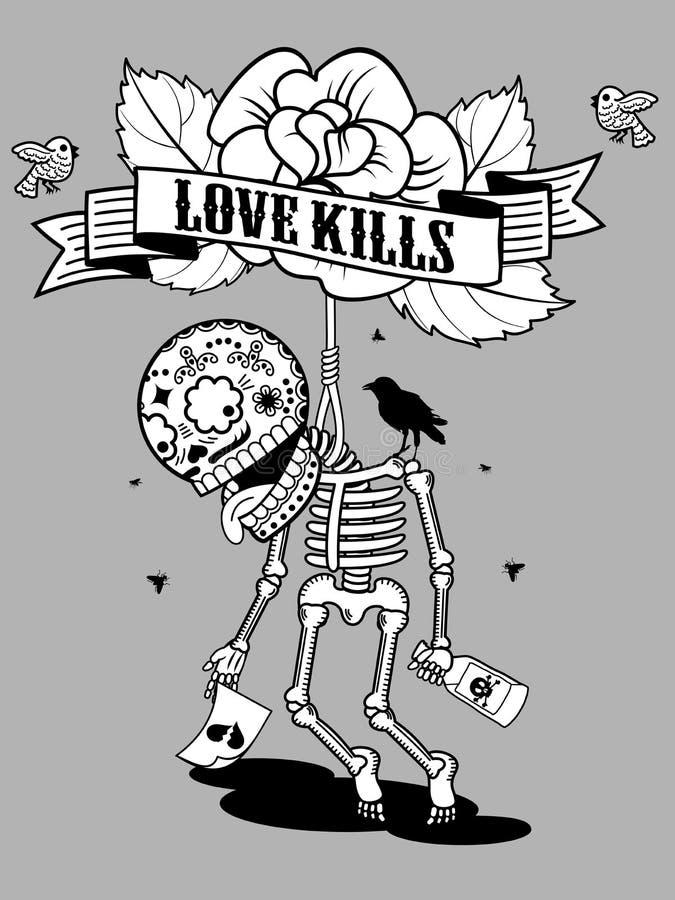 Uccisioni di amore illustrazione di stock