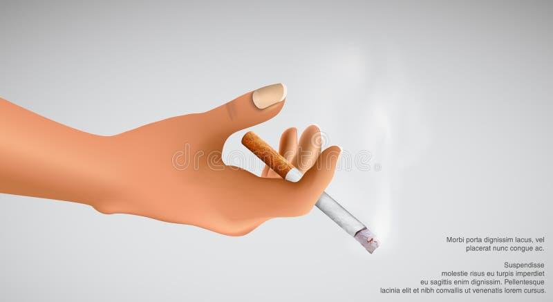 Uccisioni di fumo! sigaretta della tenuta della mano royalty illustrazione gratis