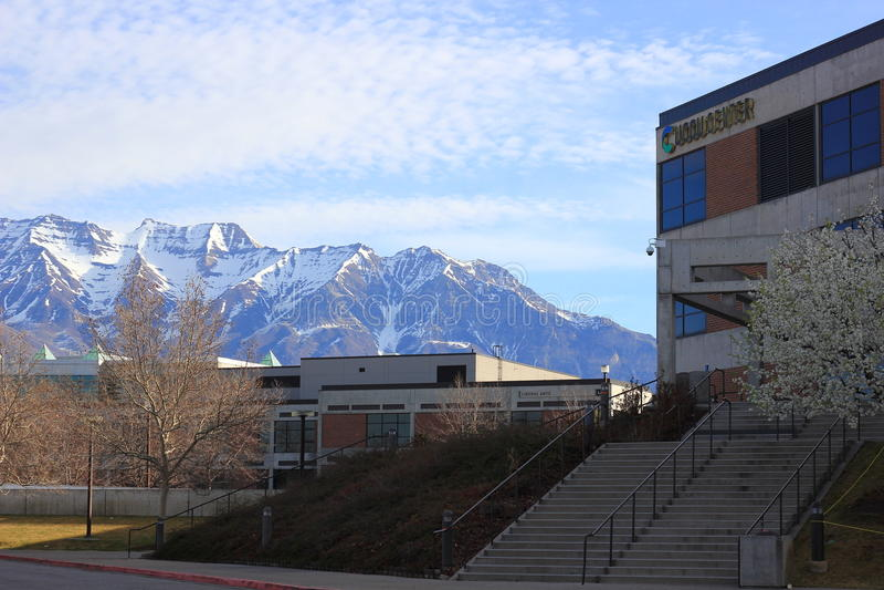 UCCU中心在犹他谷大学 库存图片