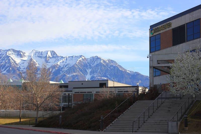 UCCU-Centrum op de Valleiuniversiteit van Utah stock afbeeldingen