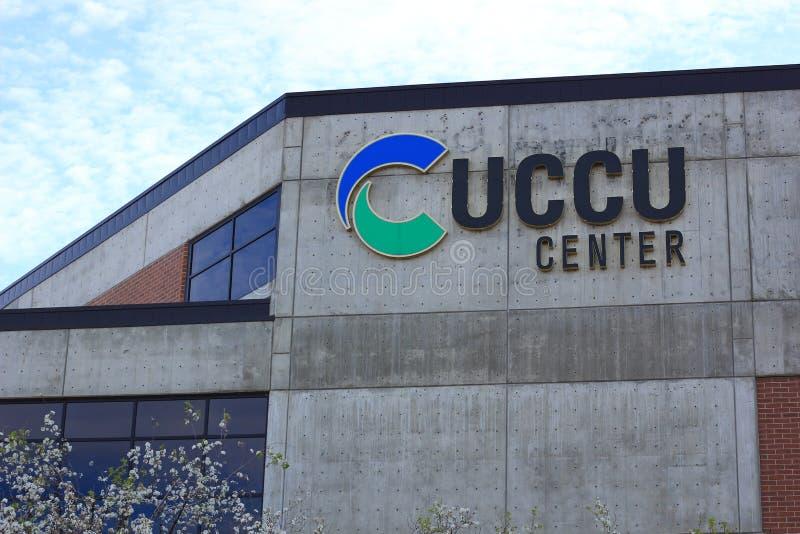 UCCU-Mitte in der Utah-Tal-Universität stockfotos