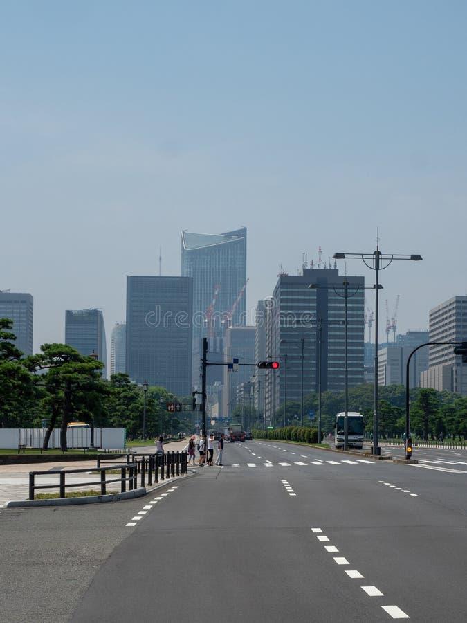 Uchibori-dori aleja, Tokio, Japonia obrazy royalty free