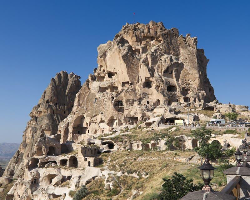 uchisar cappadociaslottkalkon royaltyfri foto