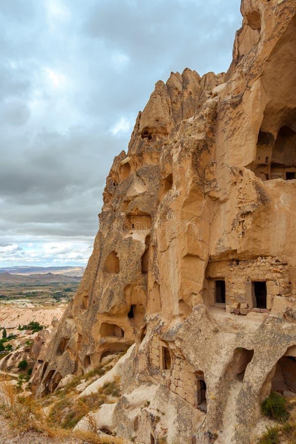 Uchisar Castle amazing view, Turkey, Cappadocia royalty free stock photos
