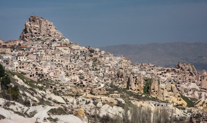 Uchisar - uma cidade da caverna foto de stock