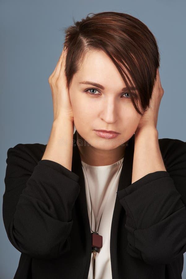 ucho końcowa kobieta zdjęcie royalty free